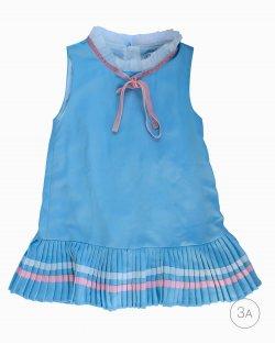Vestido Dior Azul e Rosa Infantil
