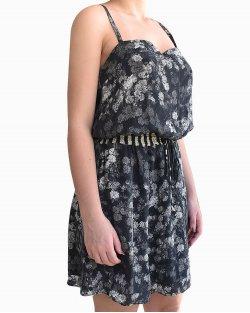 Vestido Cris Barros Estampado de Seda Floral