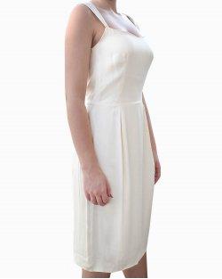 Vestido Yves Saint Laurent Off White Seda