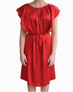 Vestido Reinaldo Lourenço Drapeado Vermelho