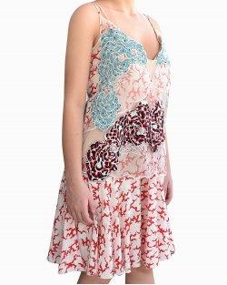 Vestido Stella McCartney Josie Cloud Silk Crepe de Chine