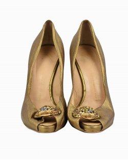 Sapato Giuseppe Zanotti couro dourado