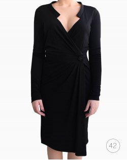 Vestido Versace Envelope Preto