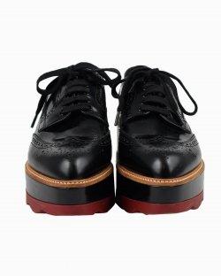 Sapato Prada Brogue plataforma preto