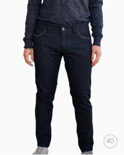 Calça Dolce & Gabbana jeans marinho com listra lateral