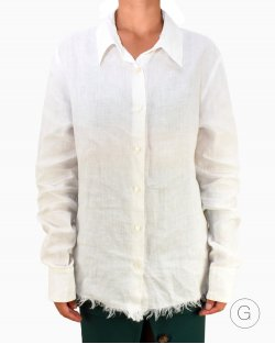 Camisa Max Mara linho branca