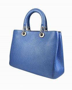 Bolsa Dior Diorissimo em azul metálico