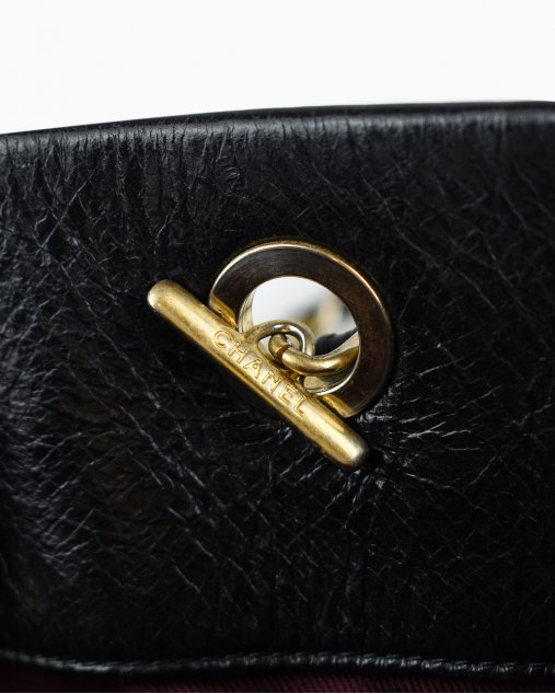 Chanel Calfskin Quilted Soft Elegance Tote Black