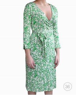 Vestido Diane Von Fustenberg Verde Envelope
