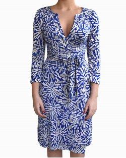 Vestido Diane Von Fustenberg Azul Envelope