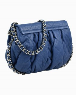 Bolsa Chanel Chain Around Azul
