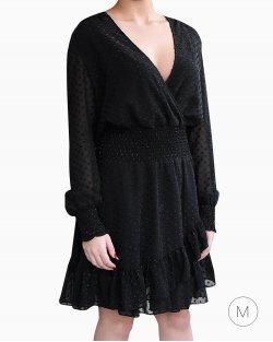 Vestido Michael Kors babados preto