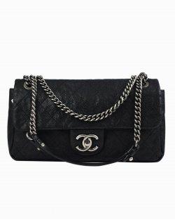 Bolsa Chanel Caviar Quilted Simply CC Flap preta