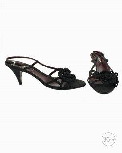 Sandália Prada tiras em preto