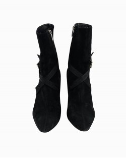 Ankle Boot Burberry Camurça Preta