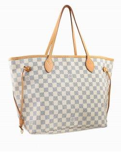 Bolsa Louis Vuitton neverfull damier azur