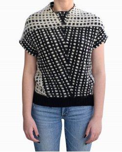 Blusa Balenciaga em lã P&B