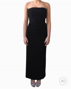 Vestido Jean Paul Gaultier tubinho preto