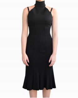 Vestido Dolce & Gabbana gola alta preto