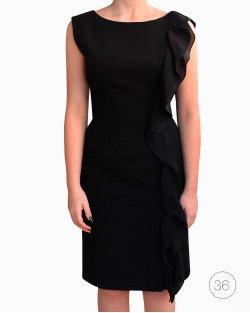 Vestido Moschino vintage babados preto