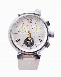 Relogio Louis Vuitton Tambour Lovely Cup White Q11BA