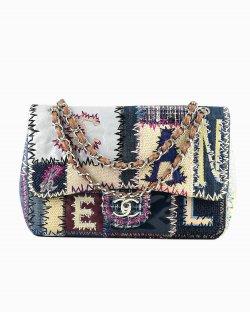 Bolsa Chanel Single Flap Patchwork