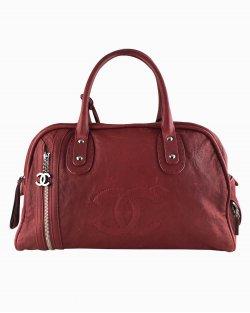 Mala de Mão Chanel Bowling Vintage Vermelha