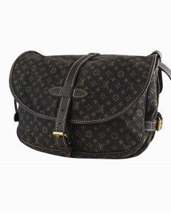 Bolsa Louis Vuitton Saumur 30 Dark Brown Mini Lin