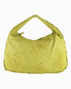 Bolsa Bottega Veneta Hobo Intrecciato Amarelo