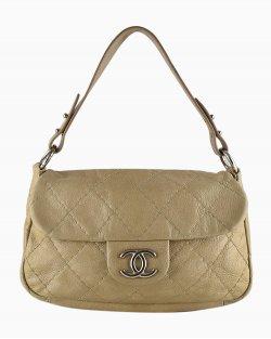 Bolsa Chanel On the Road Flap Beige