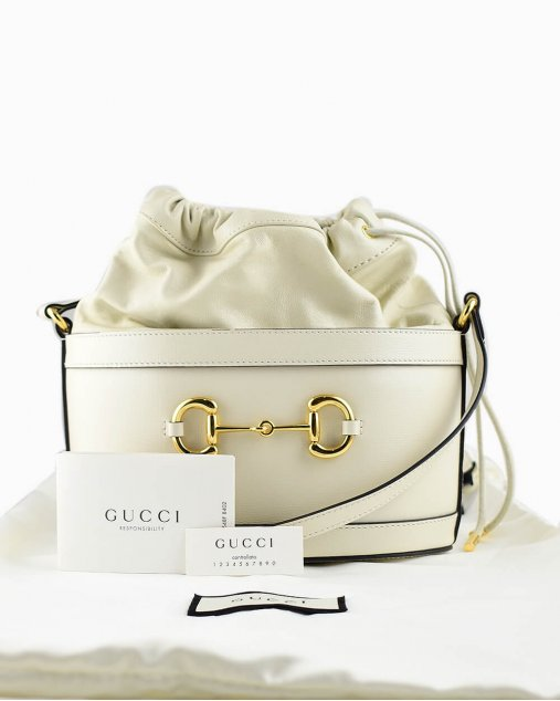 Bolsa Gucci Horsebit 1955 calfskin off-white