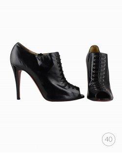 Ankle Boot Christian Louboutin verniz preto