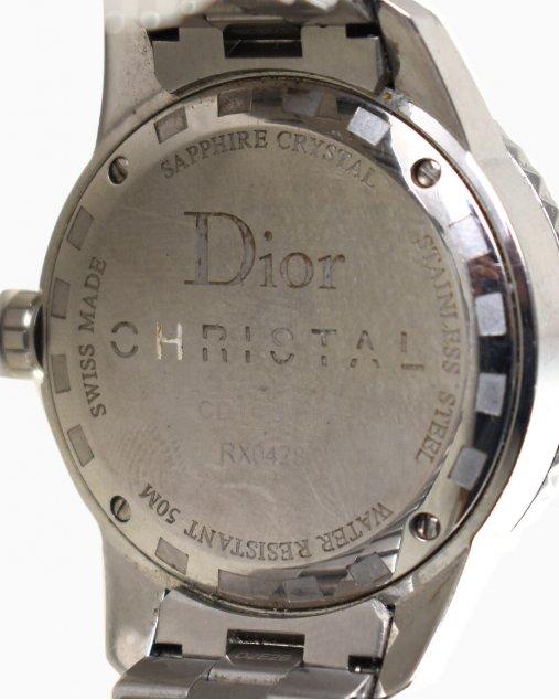 Relógio Christian Dior Christal preto e prata