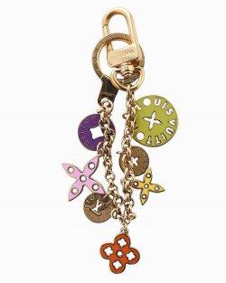 Chaveiro e Charm de bolsa Louis Vuitton Spring Flowers