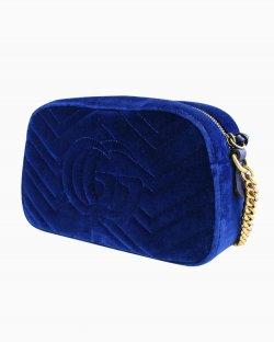 Bolsa Gucci Marmont em veludo azul