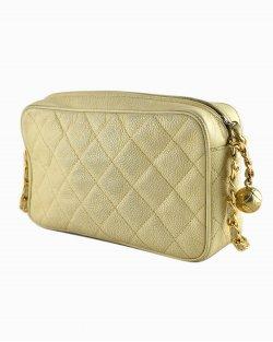 Bolsa Chanel Camera Bag Vintage Bege