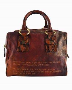 Bolsa Louis Vuitton Richard Prince Men Crazy limited edition vermelha