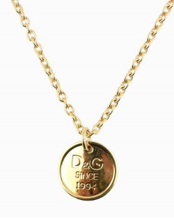 Colar Dolce & Gabbana moeda dourada