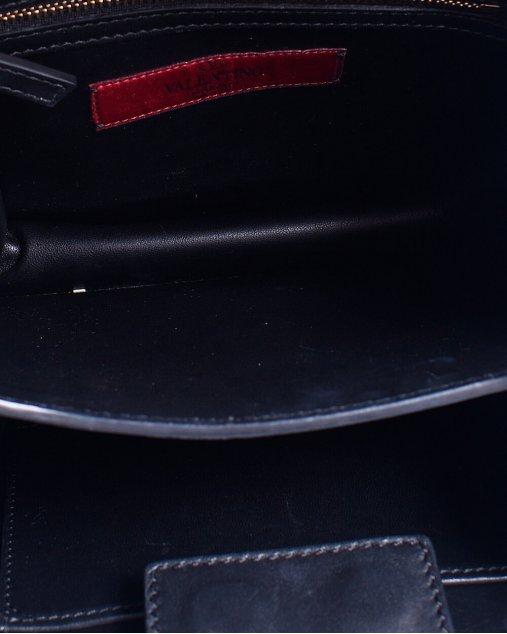 Bolsa Valentino couro preta