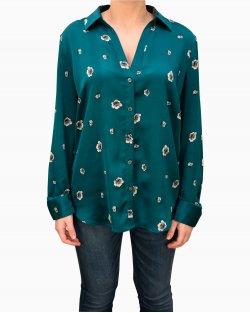 Camisa Ann Taylor floral verde