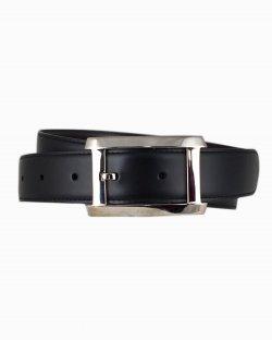 Cinto Cartier em couro preto