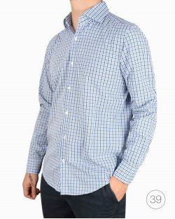 Camisa Hugo Boss xadrez azul