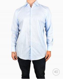 Camisa Hugo Boss algodão azul