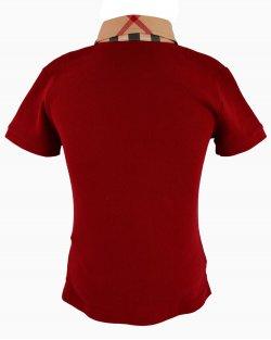 Camisa Burberry Polo Vermelha Infantil