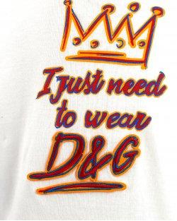 T-Shirt Dolce&Gabbana I just need Infantil