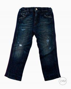 Calça Dolce&Gabbana Jeans Listra Vinho Infantil