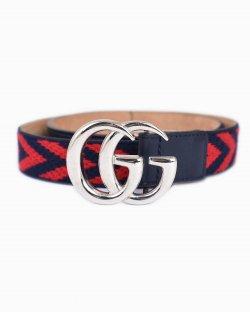 Cinto Gucci GG Azul e Vermelho Infantil