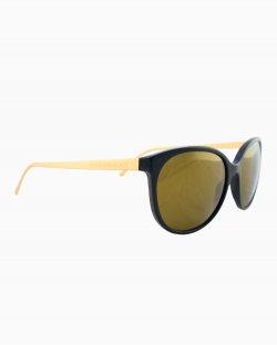 Óculos Burberry preto e dourado B4146