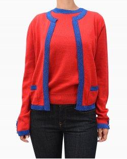Cardigan Carol Bassi em lã vermelho