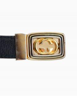 Cinto Gucci Vintage Preto